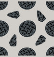 seamless pattern with hand drawn stylized apple vector image
