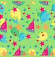 seamless repeating pattern of balloons caps vector image