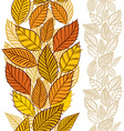 Seamless wallpaper with autumn leaves vertical vector image vector image