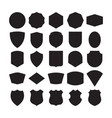 set 25 blank vintage frames vector image