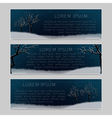 Set of three banners with place for inscription vector image vector image