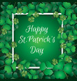 shamrock leaves with frame vector image vector image