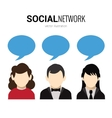 Social network speech bubbles vector image vector image