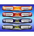 sport scoreboard template design vector image vector image
