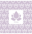 Stylized Lotus Violet Yoga Studio Design Card vector image