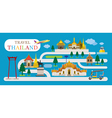 Travel Thailand Flat Design vector image vector image