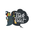 trick or treat - modern colorful poster vector image vector image