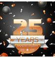 Twenty five years anniversary celebration vector image vector image