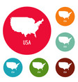 usa map in black simple vector image vector image