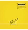 Video camera icon Retro cinema sign vector image vector image