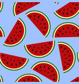 wallpaper juicy summer watermelon slices on a vector image vector image