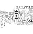 wear it up or wear it down text word cloud concept vector image vector image