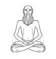 yogi meditation coloring book vector image vector image