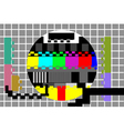 television test pattern vector image