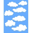 Cartoon white clouds on sky vector image