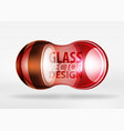 3d techno glass bubble design vector image
