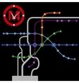 abstract background vintage metro scheme vector image vector image