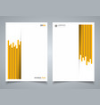abstract modern yellow stripe line pattern vector image