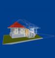 architecture blueprint vector image
