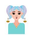 astrology symbol zodiac sign libra in doodle vector image