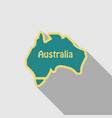 australia - highly detailed map of ausytralia in vector image vector image