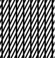 Black and white stripe pattern vector image vector image