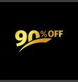 black banner discount purchase 90 percent sale vector image vector image