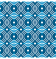 Blue circles seamless pattern vector image
