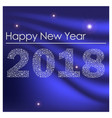 blue shiny happy new year 2018 from little vector image vector image