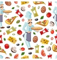 Cartoon seamless pattern with ingridients vector image vector image