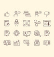 collection feedback icons vector image