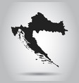 croatia map black icon on white background vector image vector image