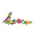 decorative frame with tropical parrots mexican vector image vector image