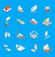 digital medicine 3d icons set isometric view vector image vector image