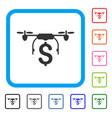 drone business framed icon vector image vector image