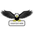 eagle grip the blank sign vector image