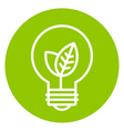 Ecology light bulb icon in green circle vector image