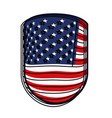emblem with flag united states of america colorful vector image vector image