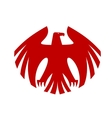 Fierce red eagle heraldic silhouette vector image vector image