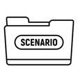 film folder scenario icon outline style vector image
