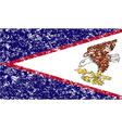 Flag of American Samoa with old texture vector image