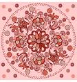 floral mandala pattern motif vector image vector image