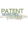 free patent searches text background word cloud vector image vector image