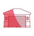 Garage door house