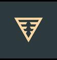 geometric triangle logo design technology vector image vector image