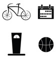 gym icon set vector image