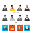 hairstyle and profession vector image