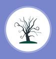 halloween tree icon sign symbol vector image vector image