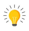 halogen lightbulb icon light bulb sign vector image vector image