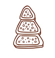 Hand Drawn Christmas Cookie vector image
